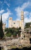 Terracina in Italy. Frangipane castle in Terracina high or ancient. Region Lazio, Italy Stock Image