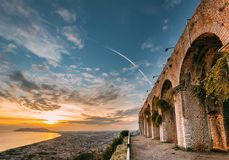 Free Terracina, Italy. Remains Of Temple Of Jupiter Anxur Stock Photo - 139212270