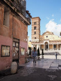 Terracina in Italy. Town hall square in Terracina high or ancient. Region Lazio, Italy Stock Image