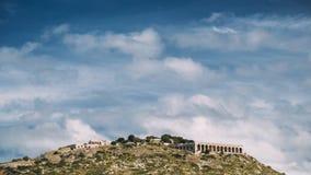 Terracina, Włochy Platforma sanktuarium I świątynia Jupiter Anxur zbiory