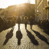 Terracing in Ljubljana city center. Stock Photography