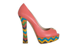 Terracita  high  heeled shoes Royalty Free Stock Images