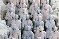 terracota της Κίνας στρατού Στοκ Φωτογραφίες