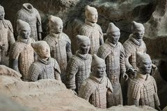 Армия Terracota первого императора Китая стоковое изображение