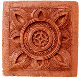 Terracota. A terracota stone used for outdoor decoration Royalty Free Stock Images