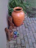 Terracota罐 库存照片