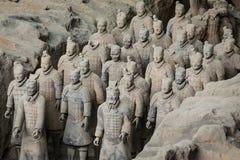 Terracota armé av den första kejsaren av Kina royaltyfri foto
