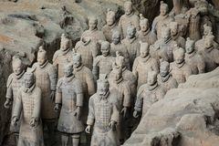 Terracota Army of the first emperor of China royalty free stock photo