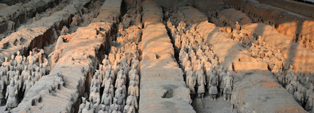 Terracota Army. The Terracotta Army is a collection of terracotta sculptures depicting the armies of Qin Shi Huang, the first Emperor of China Royalty Free Stock Photos