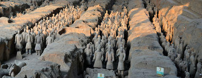Terracota Army. The Terracotta Army is a collection of terracotta sculptures depicting the armies of Qin Shi Huang, the first Emperor of China Royalty Free Stock Photo