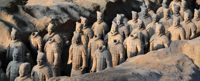 Terracota Army. The Terracotta Army is a collection of terracotta sculptures depicting the armies of Qin Shi Huang, the first Emperor of China Royalty Free Stock Images