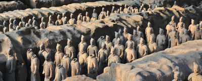 Terracota Army. The Terracotta Army is a collection of terracotta sculptures depicting the armies of Qin Shi Huang, the first Emperor of China Stock Photos