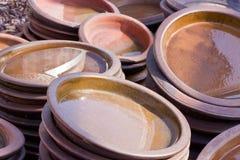 Terracota ha colorato la ceramica Immagini Stock Libere da Diritti