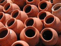 Terracota pots. Beautiful terracota pots in beach Stock Photography