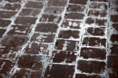 Terracota que pavimenta la teja, pequeña profundidad del campo Imagen de archivo libre de regalías