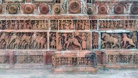 A terracota trabalha no templo de Kantajew Fotografia de Stock