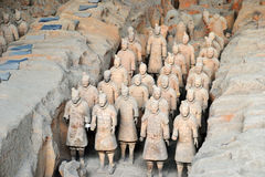 Terracota Warrior. The Terracotta Army is a collection of terracotta sculptures depicting the armies of Qin Shi Huang, the first Emperor of China Royalty Free Stock Photography