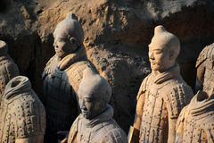 Terracota Warrior. The Terracotta Army is a collection of terracotta sculptures depicting the armies of Qin Shi Huang, the first Emperor of China Stock Photo