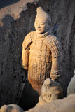 Terracota Warrior. The Terracotta Army is a collection of terracotta sculptures depicting the armies of Qin Shi Huang, the first Emperor of China Royalty Free Stock Image