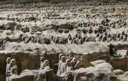 Terracotaleger van de eerste keizer van China royalty-vrije stock foto