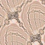 terracotta абстрактной картины безшовный Стоковое Изображение RF