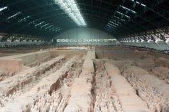 terracotta ангара армии Стоковая Фотография