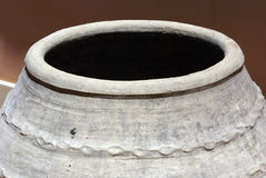 Terracotta amphora. Closeup of mouth of terracotta amphora or jar in typical Sicilian style royalty free stock photo