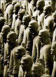Terracotta Army. Near the city of Xian, China royalty free stock photo
