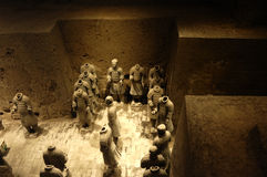 Terracotta Army. Warriors of the Terracotta Army from the mausoleum of the first emperor of China, Qin Shi Huang Stock Photography