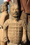 Terracotta Army. Wood or clay figures of warriors and horses buried with the dead stock photography
