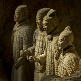 The Terracotta army. Terracotta Army is a collection of terracotta sculptures depicting the armies of Qin Shi Huang, the first Emperor of China. 210-209 BC Royalty Free Stock Photos