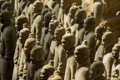 The Terracotta army. Terracotta Army is a collection of terracotta sculptures depicting the armies of Qin Shi Huang, the first Emperor of China. 210-209 BC Stock Image