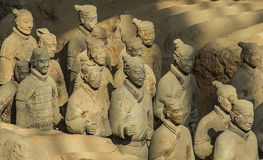 The Terracotta army. Terracotta Army is a collection of terracotta sculptures depicting the armies of Qin Shi Huang, the first Emperor of China. 210-209 BC Royalty Free Stock Photography