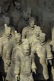 The Terracotta army. Terracotta Army is a collection of terracotta sculptures depicting the armies of Qin Shi Huang, the first Emperor of China. 210-209 BC Stock Photography