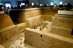 Terracotta Army crater Stock Images