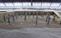 Terracotta Army crater Royalty Free Stock Image