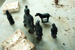 Terracotta Army figurines - China Royalty Free Stock Photo