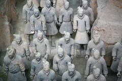 The Terracotta Army the first Emperor of China. Terracotta Army is a collection of terracotta sculptures depicting the armies of Qin Shi Huang, the first Emperor stock photo