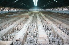 The Terracotta Army the first Emperor of China royalty free stock photo