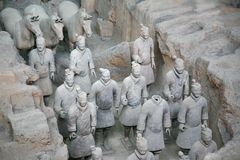 The Terracotta Army the first Emperor of China royalty free stock image