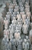 The Terracotta Army the first Emperor of China. Terracotta Army is a collection of terracotta sculptures depicting the armies of Qin Shi Huang, the first Emperor stock images