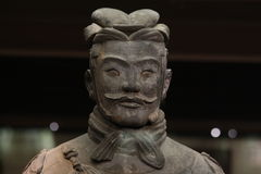 Terracotta Army General. Ancient chinese sculpture of Army General Stock Images