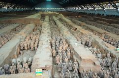 Terracotta Army, Lintong District, Xi`an City, Shanxi Province China. stock image