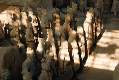 Terracotta Army in Mausoleum of the First Qin Emperor in Xian, China. X`ian is the Ancient Capital of China stock photo