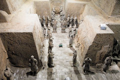 Terracotta Army in Mausoleum of the First Qin Emperor in Xian, China. X`ian is the Ancient Capital of China stock image