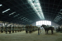 Terracotta Army in Mausoleum of the First Qin Emperor in Xian, China. X`ian is the Ancient Capital of China stock images