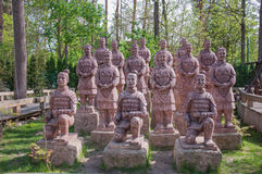 Terracotta Army. Monument in Krasnodar royalty free stock images
