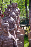 Terracotta Army. Monument in Krasnodar stock photo