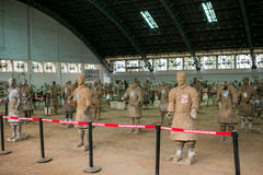 Terracotta Army Museum, Xi`an, China stock images