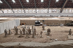 Terracotta Army Soldiers Horses repair work area Stock Photo